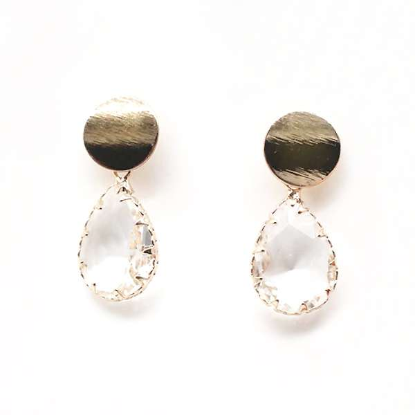 Crystal glass drop earrings