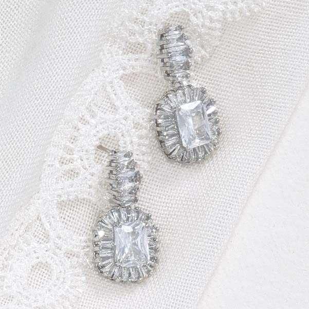 Baguette wedding jewellery
