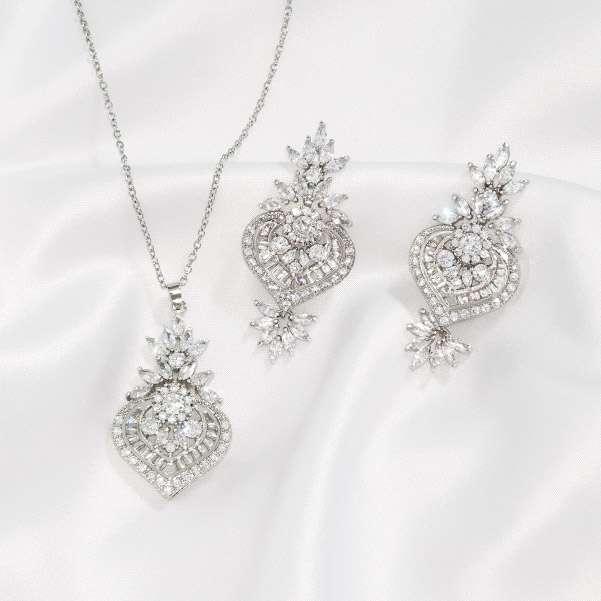 Baguette jewellery set