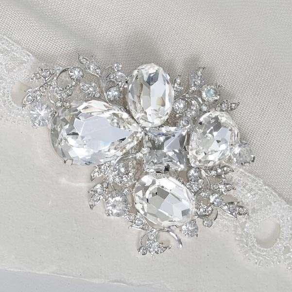 crystal dress brooch