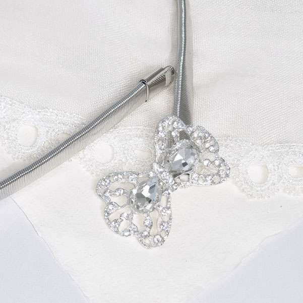 crystal bow belt