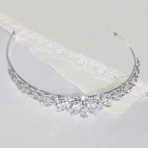 Crystal wedding tiara