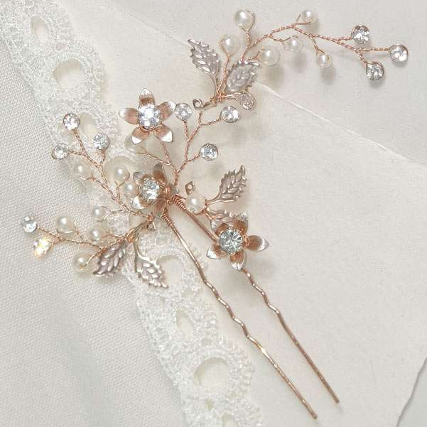 rose gold hair accessories