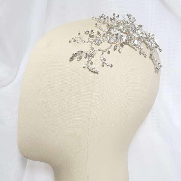 crystal spray bridal clip