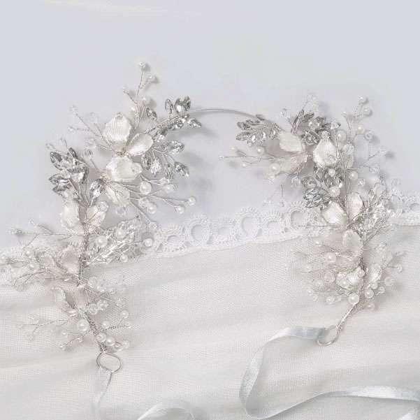 Crystal silver hairband
