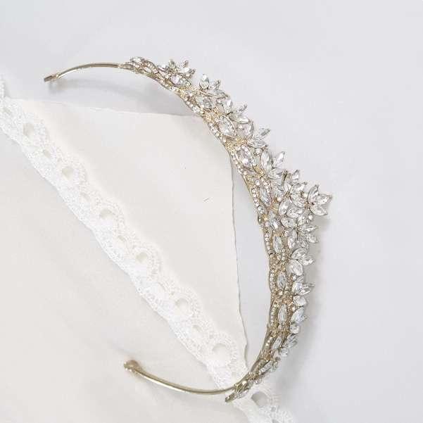 Gold wedding crown