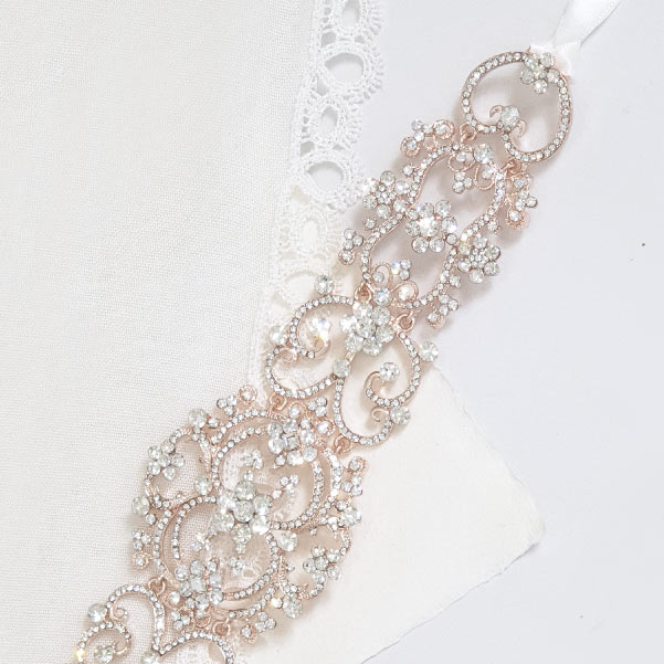 Rose crystal headband
