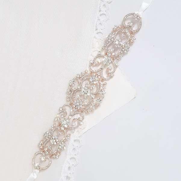 Bridal rose headpiece