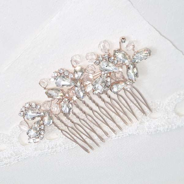 Rose gold haircomb