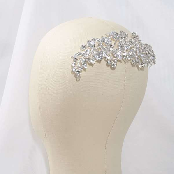 crystal wedding comb