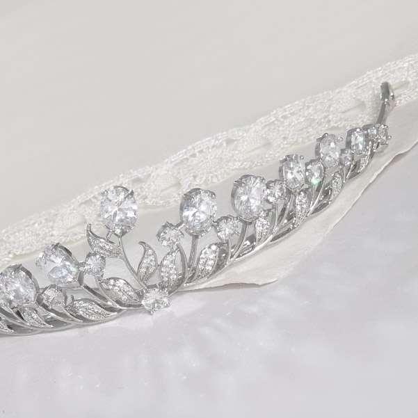 Flowergirl crystal tiara
