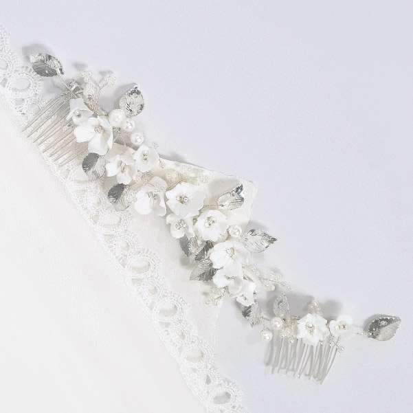 Porcelain hair comb