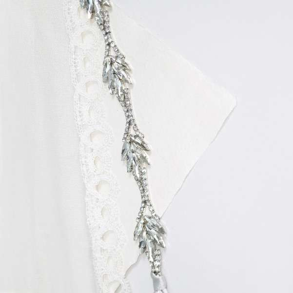 Silver crystal sash