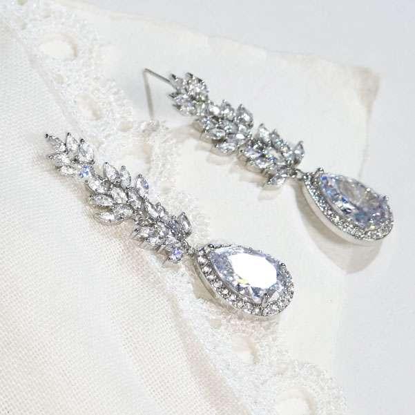 Long wedding earrings