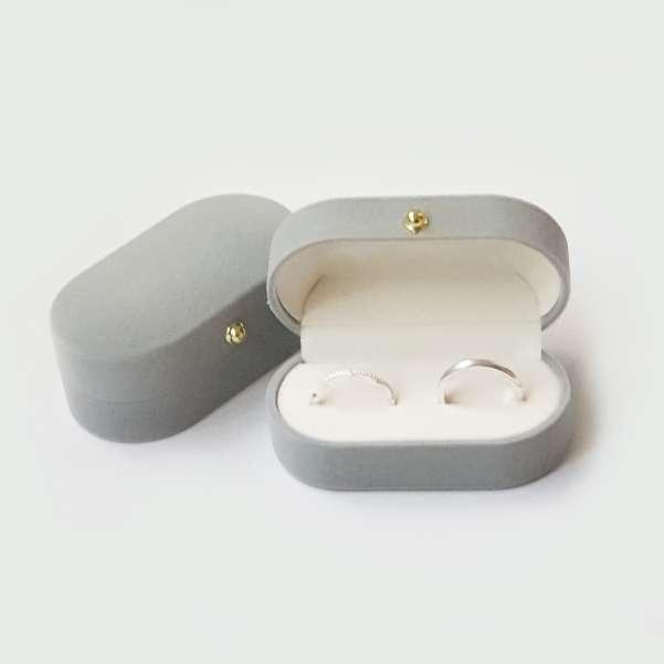 Grey Wedding ring box