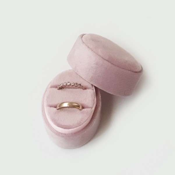 Pink wedding ring box