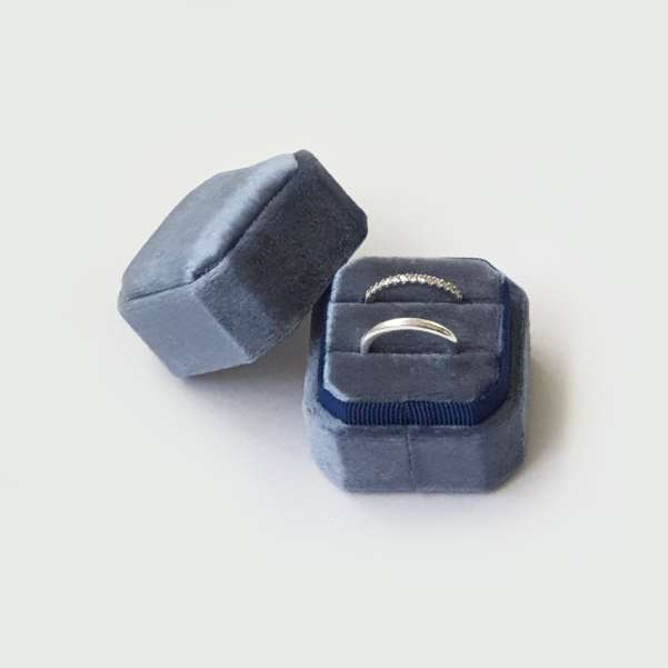 Octagon wedding ring box