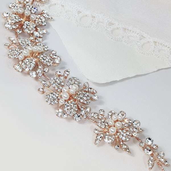 Crystal rose headband