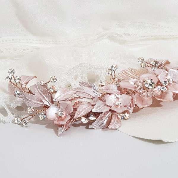 Blush pink haircomb