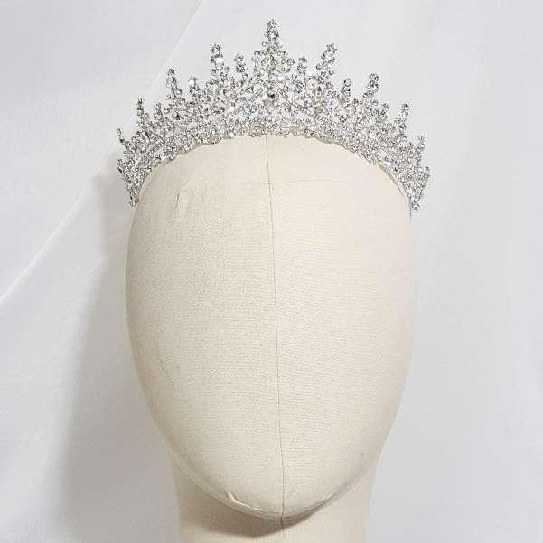 Silver wedding tiara