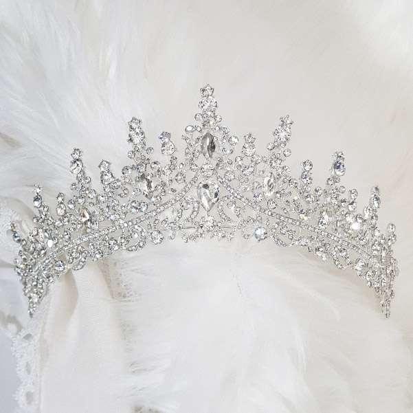 Silver wedding crown